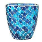 Windlicht Mosaik Blaues Glas Konische Form Lamstedt Cuxhaven Bremerhaven