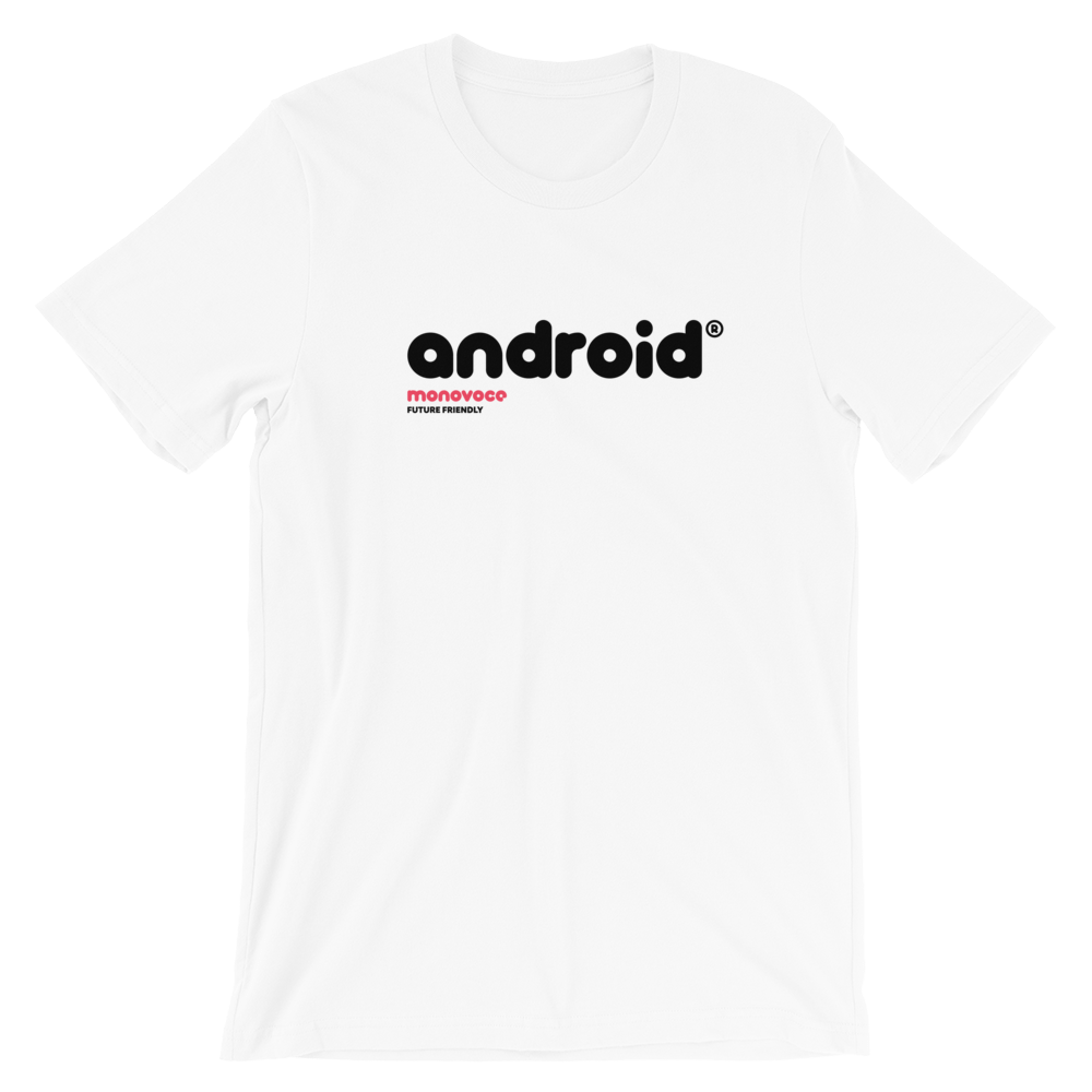Android t-shirt for men in white