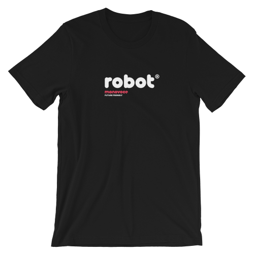 Robot t-shirt for men in black