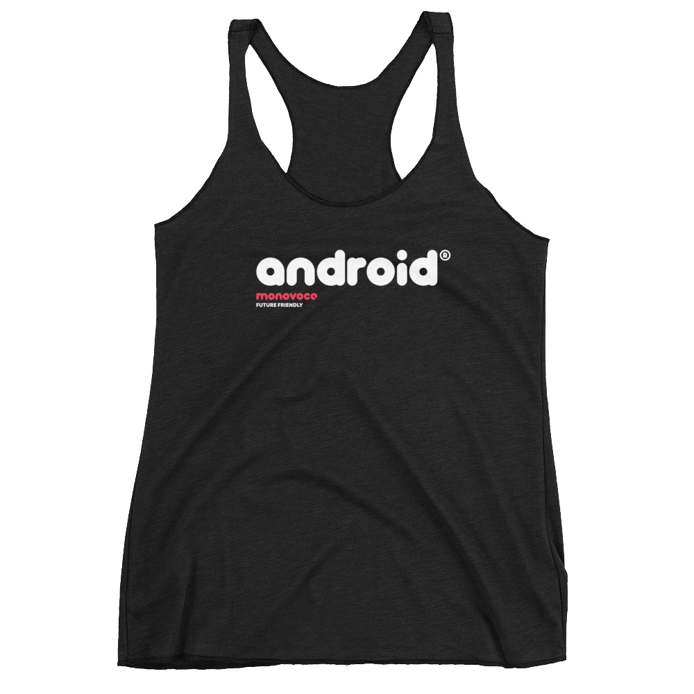Android tank top for women in black
