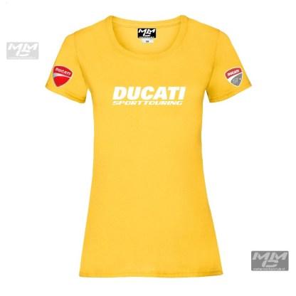 """lady-fit teeshirt met witte opdruk """"Ducati sporttouring"""""""