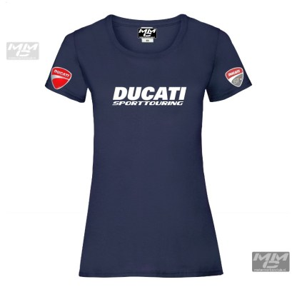 witte opdruk op een donkerblauw NAVY-blauw t-shirt