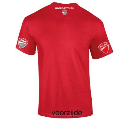 roos Tshirt met witte bedrukking in de nek en FC STD logo