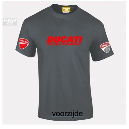 ST-Ducati T-shirt Donkergrijs