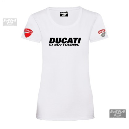 ST-Ducati T-shirt wit Lady-fit