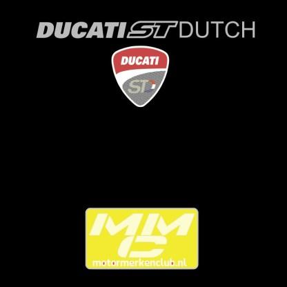 ST-Ducati T-shirt Zwart