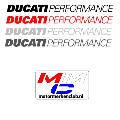Ducati Performance Sticker