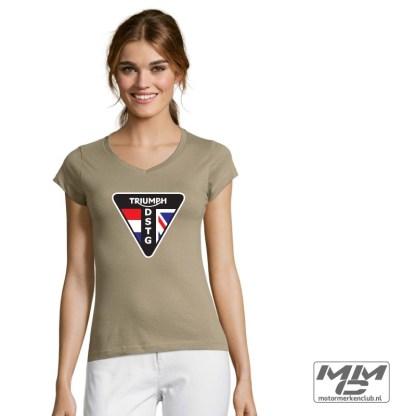 DSTG LOGO dames Tshirt met V-hals