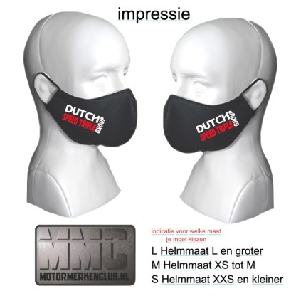 Triump Speed Triple Group mondkapje-mondkmasker rood-wit