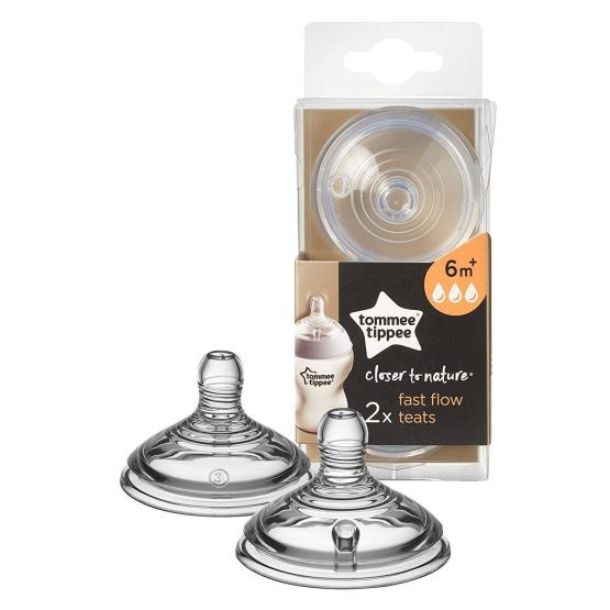 Tommee Tippee Closer To Nature Fast FLow Teats- 6M+