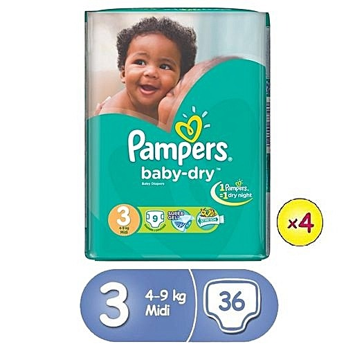 Pampers Size 3 Midi 36 Count
