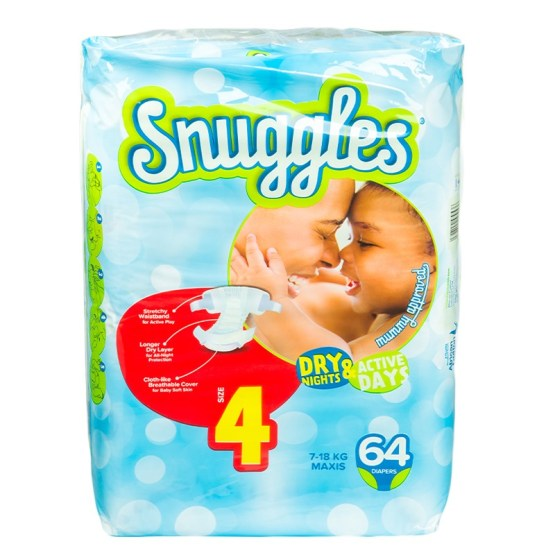 Snuggles Diapers Maxi Size 4 – 64 Count