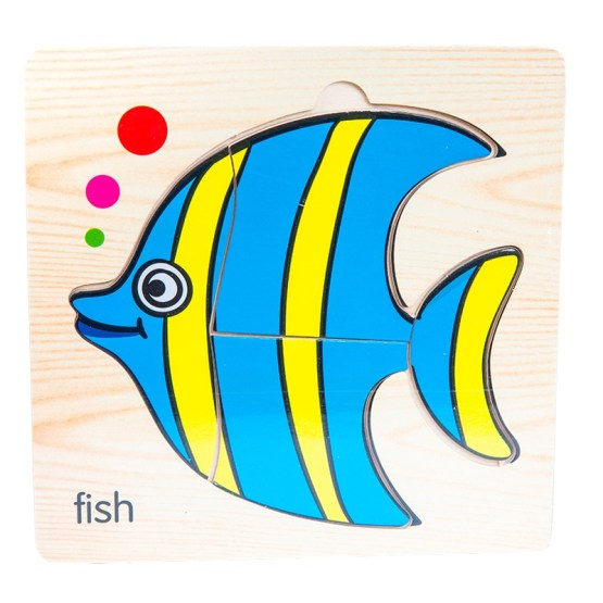 Small Wooden Puzzle – Fish