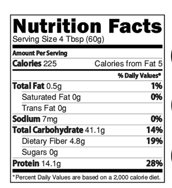 Instant Soya Rice Powder Nutrition facts