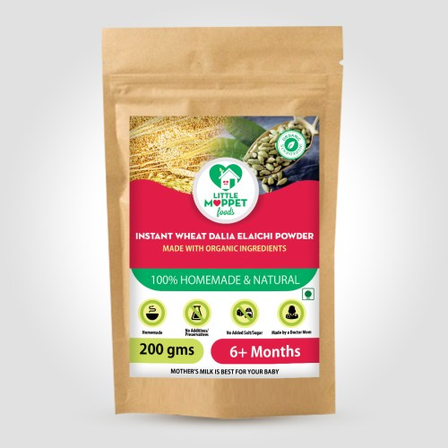 Instant Wheat Dalia Elaichi Powder has the goodness of nutrient rich unpolished wheat which helps in phenomenal growth of the babies.