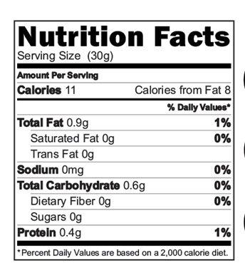 Sprouted Ragi Malt Drink Nutrition facts