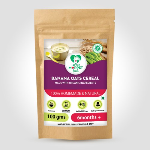 Banana Oats Cereal is an excellent vegetarian protein source for the overall growth of the baby. It's fiber rich and highly nutritious.