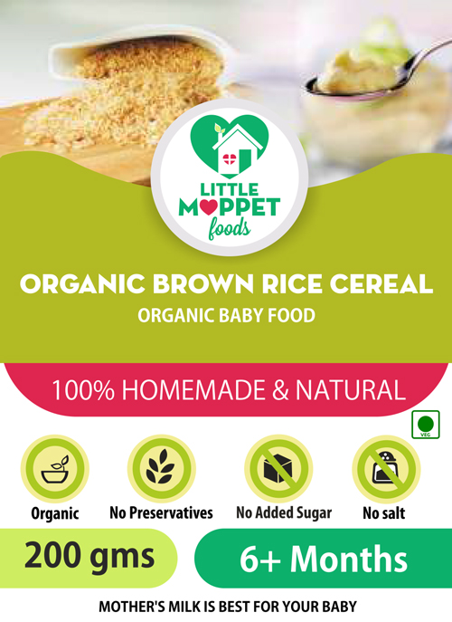 buy organic brown cereal for babies