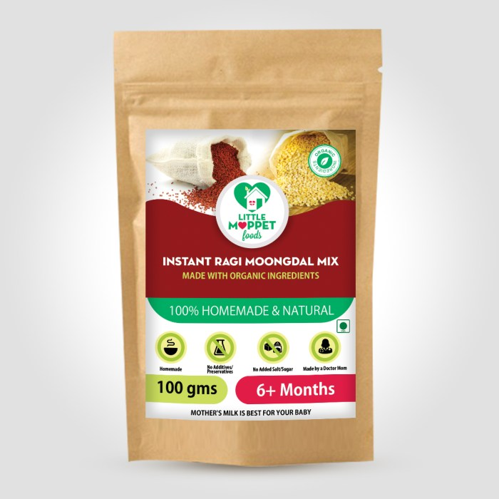 Instant Ragi Moongdal Powder is a nutrient rich baby food with no preservatives or chemicals for healthy bones and rapid brain and body development..