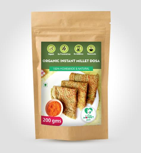 Little Moppet Foods Organic Instant Millet Dosa 2