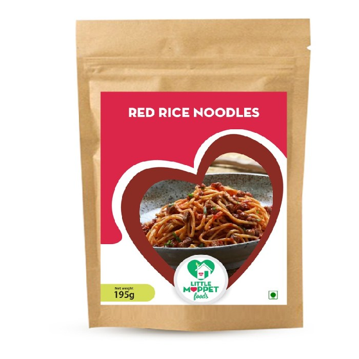 Red Rice Noodles has high amounts of anthocyanins, antioxidants and iron which helps to reduce inflammation, allergies and prevents anemia.