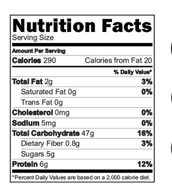 Banana Makhana Cereal Nutritional Facts