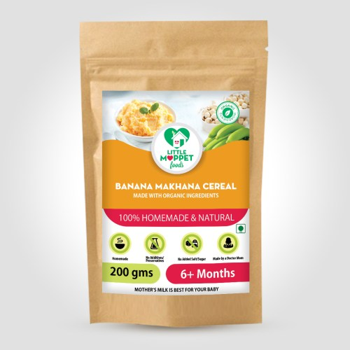 Banana Makhana Cereal is a weight gaining baby food with the combo of protein and calorie rich lotus seeds and high fiber, energy rich Kerala bananas.