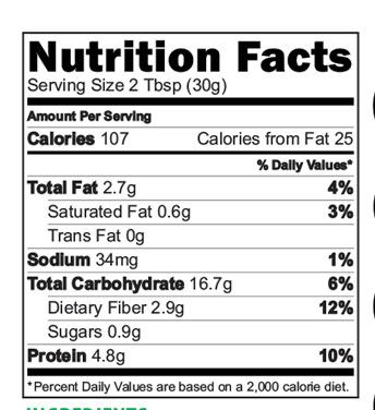 Banana Nutrimix nutritional Facts