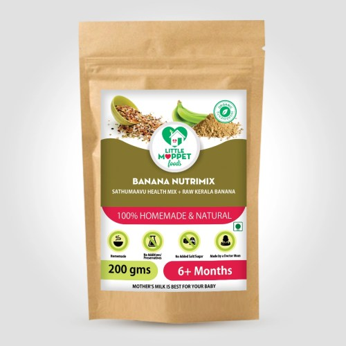 Banana Nutrimix Cereal is the ancestral baby food formula, with the weight and immunity boosting extra nutritious ingredients.