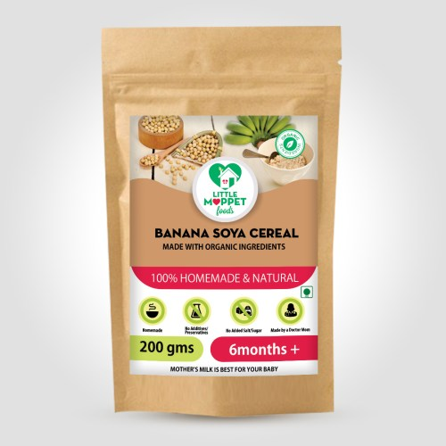 Banana Soya Cereal is a wholesome meal with the goodness of body building, protein rich soya and the fiber rich, nutritious banana.