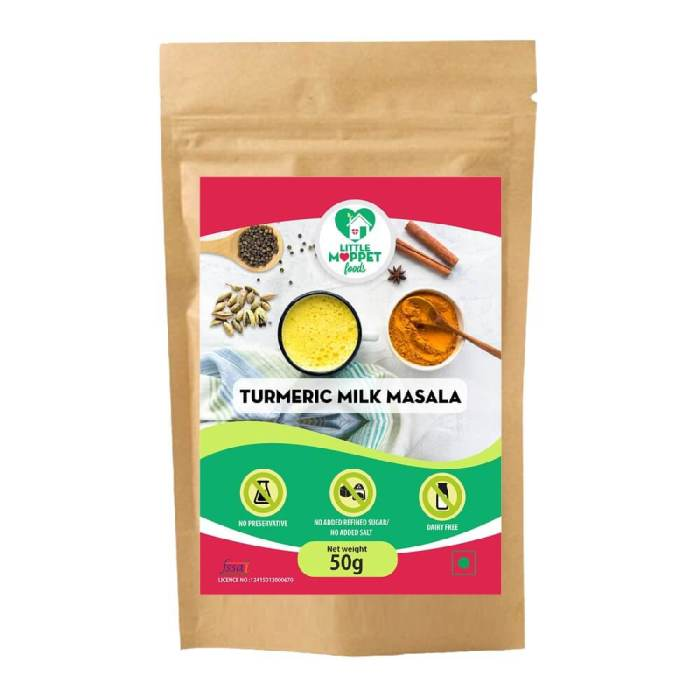 Turmeric Milk Masala – Drink Mix For Kids And Adult [Trial Pack 50g]