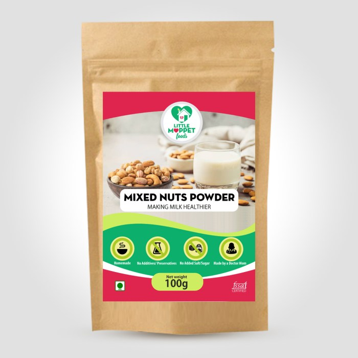 Nuts powder for kids