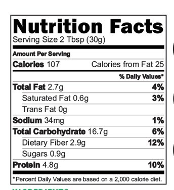Sathumaavu Health Mix nutrition Facts