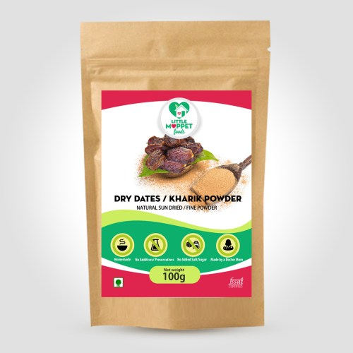 Dates are well known for their nutritional benefits for all ages.And most of the children don't like to eat fresh dates. So we are presenting Dates Powder.