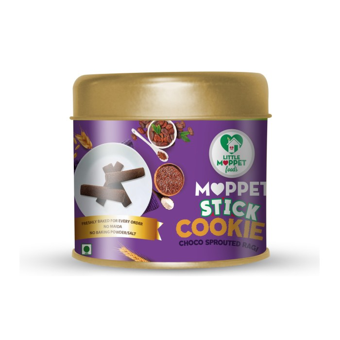 Choco Sprouted Ragi Moppet Stick Cookies
