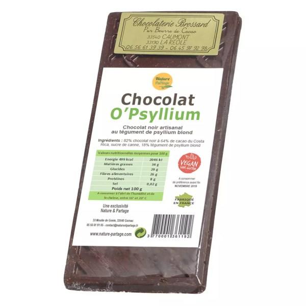 Dark chocolate O'Psyllium