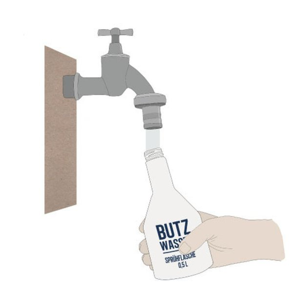 Butzwasser ist ein ökologisches Reinigungsmittel, allergenfrei und vegan und frei von Zusatzstoffen.