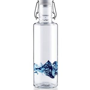 nachhaltige Trinkflasche aus Glas