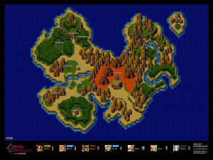 Nintendo maps store the best place to get posters of maps for chrono trigger prehistoric overworld 24 x 18 poster gumiabroncs Image collections