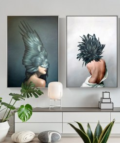Radiant Women With Black Feather Wing Headdress Frameless Poster