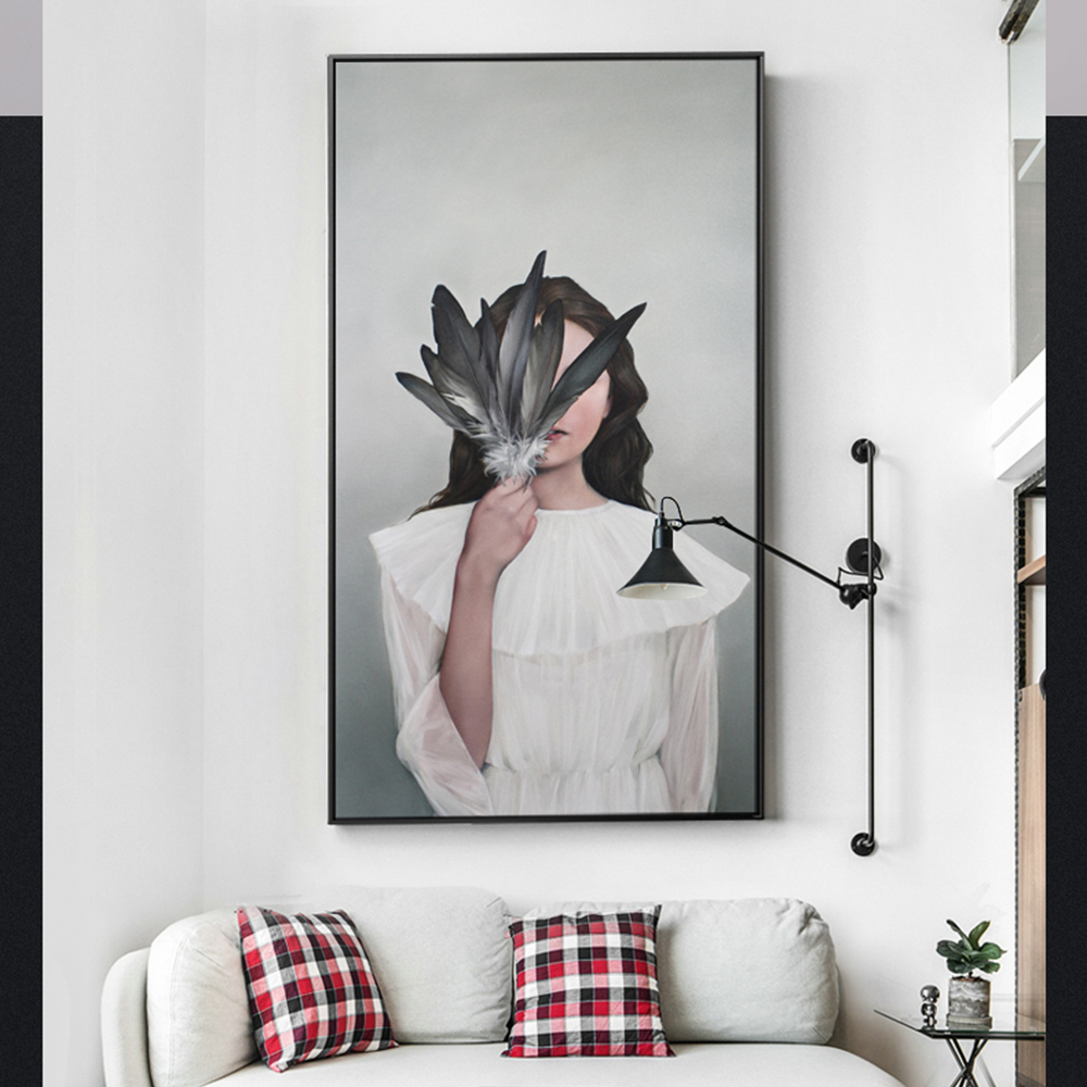 Dashing Watercolor Feather Chair Bird Landscape Wall Art Canvas Painting Nordic Posters And Prints Wall Pictures For Living Room Decor Home & Garden Home Decor