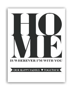 Heartfelt Monochromatic Message And Leaf Frameless Art Poster