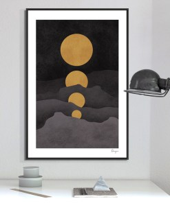 Heavenly Moon, Landscape, And Text Stylized Frameless Poster