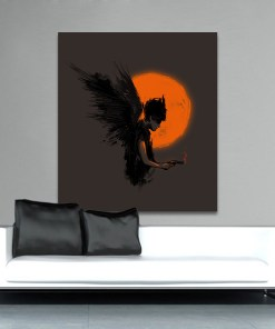 Hegemonic Dark Angel With A Smoking Gun Frameless Poster