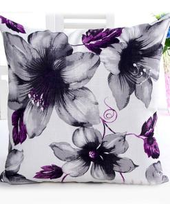 Enriching Monochromatic Flower Prints Pillow Covers