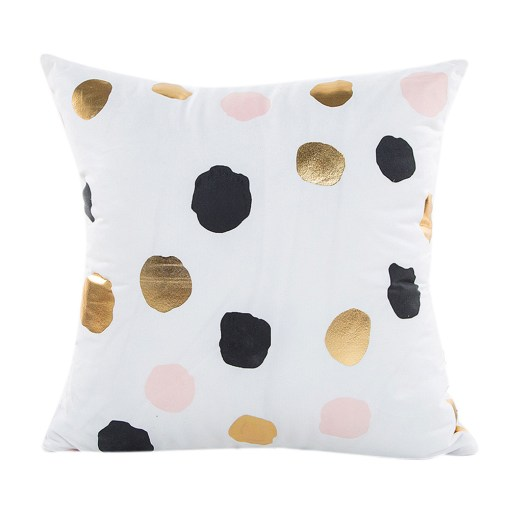 Enthusiastic Gold Sparkles And Heart Fabric Pillow Covers