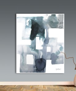 Puissant Abstract Watercolour Artisanal Frameless Nordic Poster
