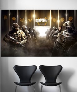 Magnetising Tom Clancy's Rainbow Six PC Video Game CTU Frameless Art Poster