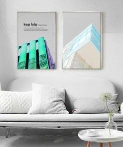 Palatial High Rise Buildings Urban Landscape Frameless Pop Art Poster