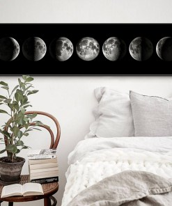 Gravitational Phases Of The Dark Moon Frameless Poster